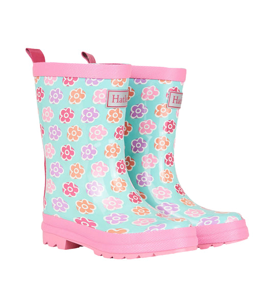 Flower Sketches Rain Boots