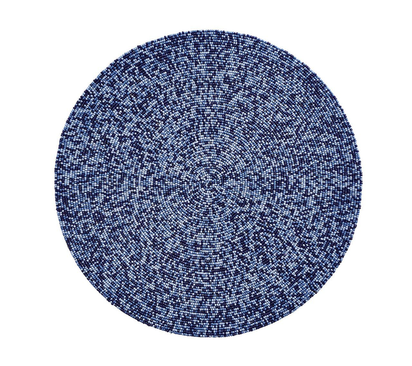 Confetti Round Placemat, Navy