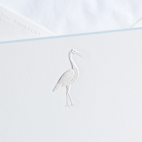 Stork Notecards, Blue
