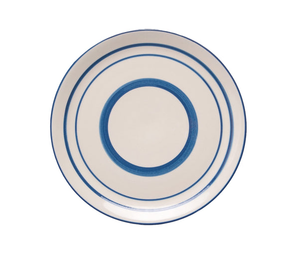 Blue Striped Dinner Plate