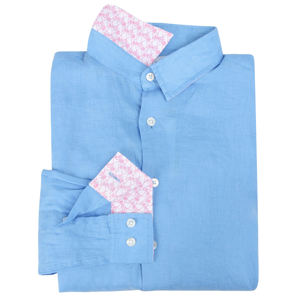 Pink House Mustique Boy's Linen Shirt