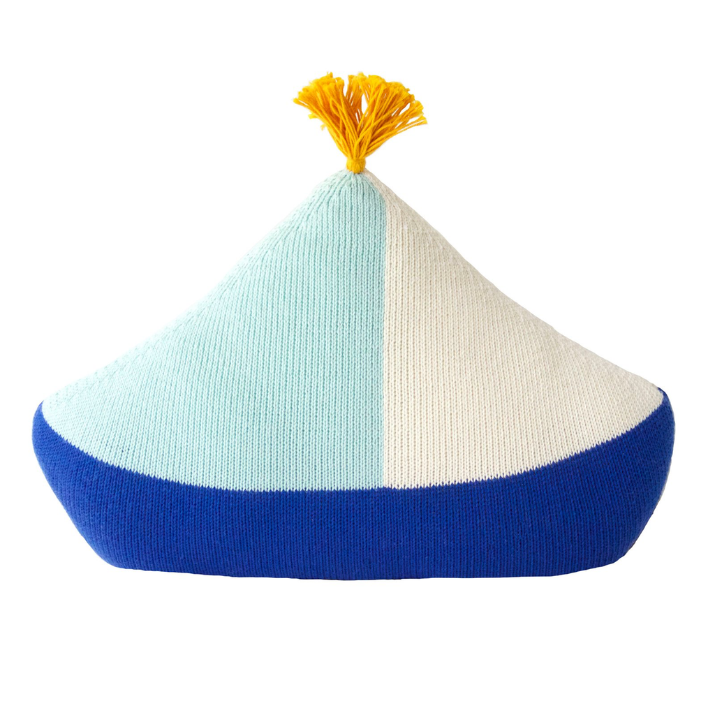 Boat Knit Pillow