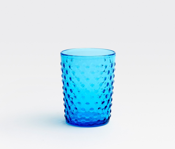 Hand Blown Blue Juice Glass
