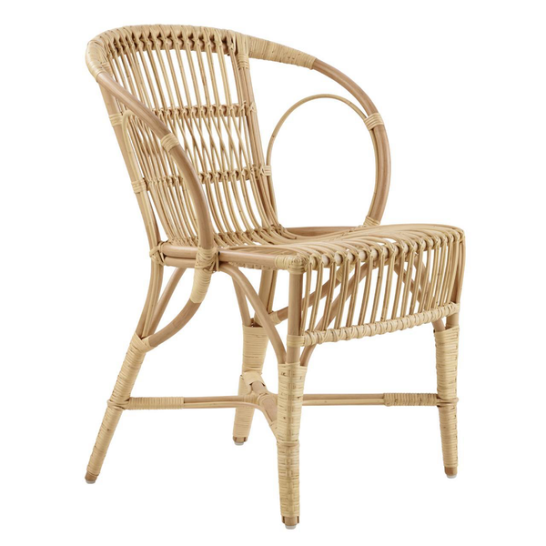 Rounded Rattan Arm Chair