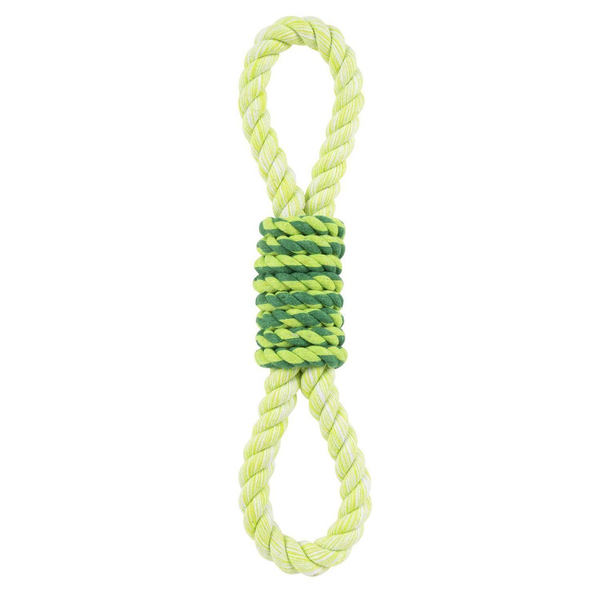 Green Double Tug Rope Toy