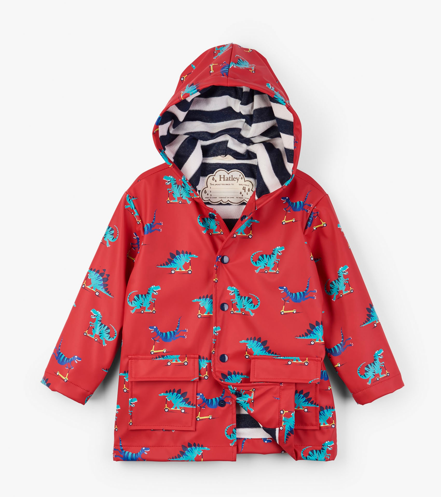 Scooting Dinos Raincoat