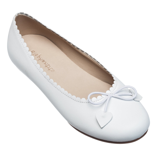 Children's Scalloped Ballerina Suede