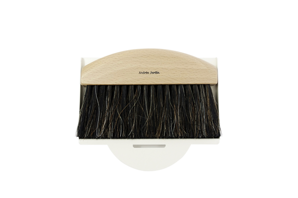 Mini Hand Brush & Dustpan Cream