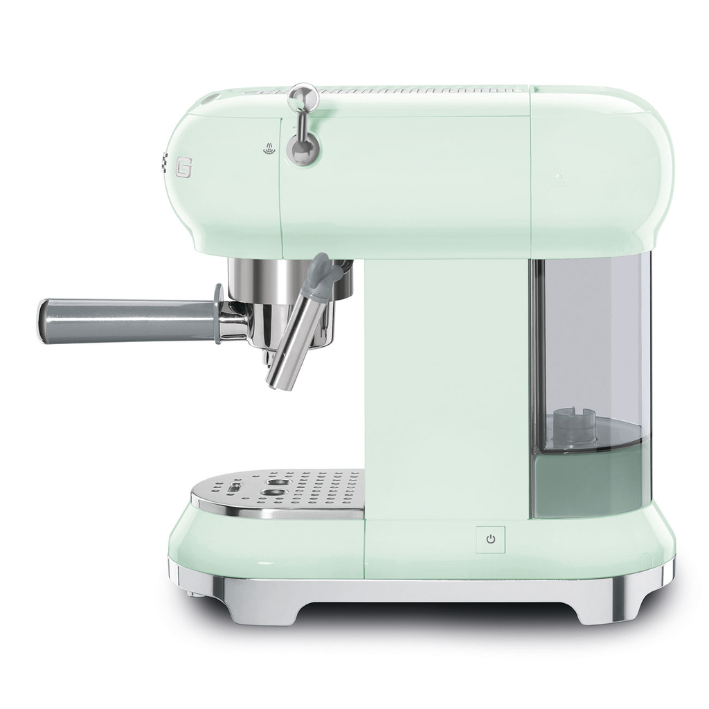 SMEG Espresso Machine, Pastel Green