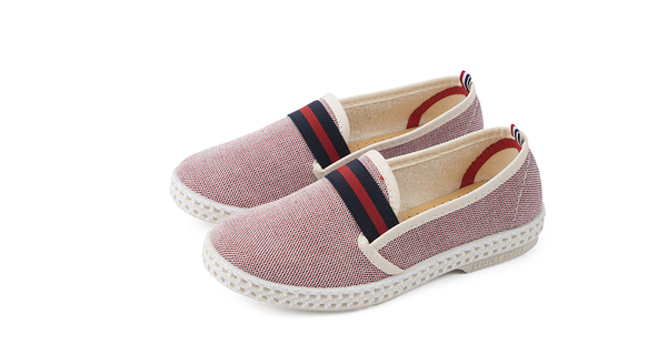 Rivieras Kids Oxford Slip On, Rouge