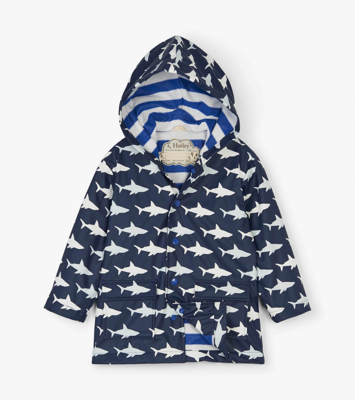 Color Changing Shark Frenzy Raincoat