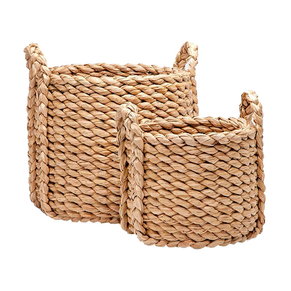 Woven Seagrass Round Basket, Small