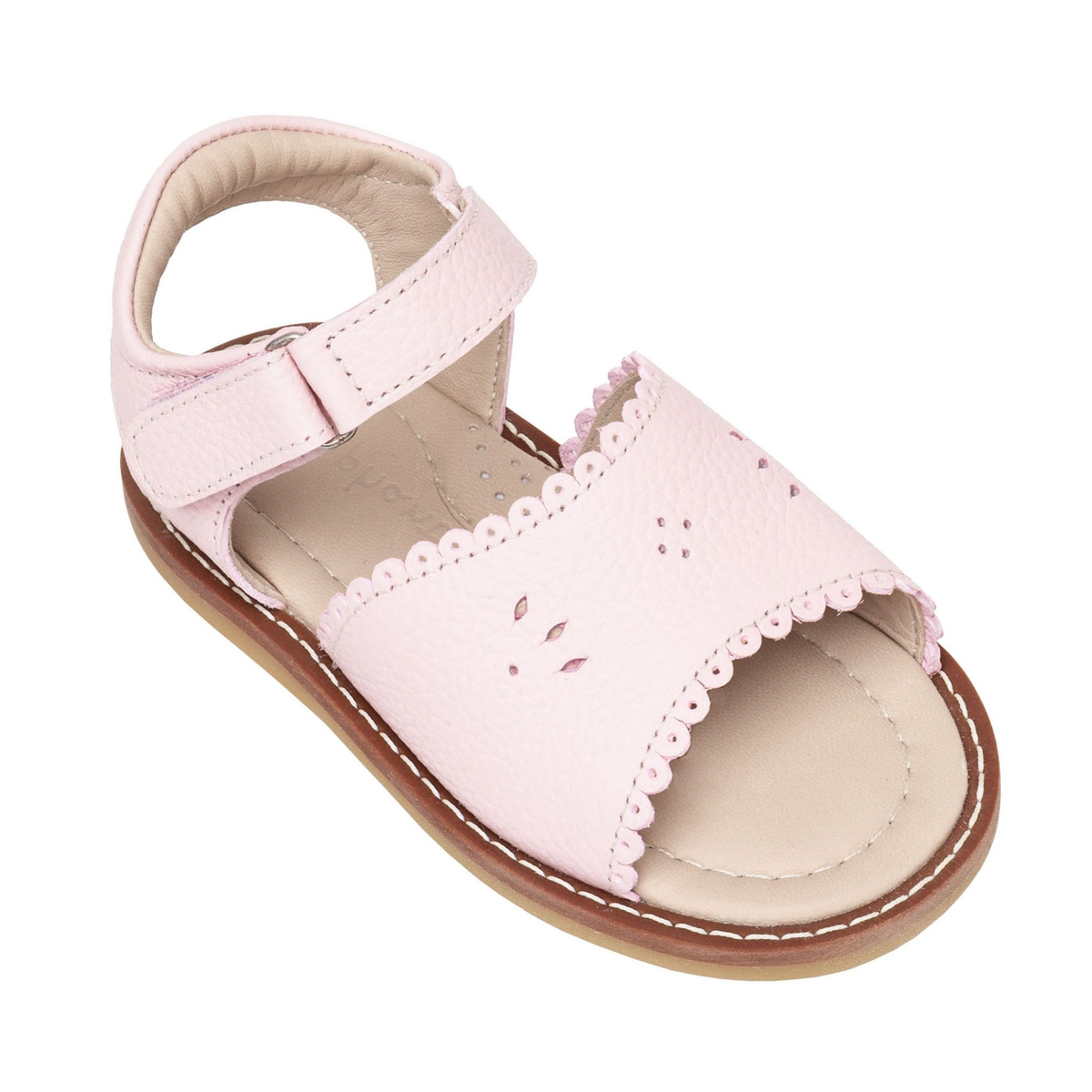 Children's Classic Scallop Leather Sandal