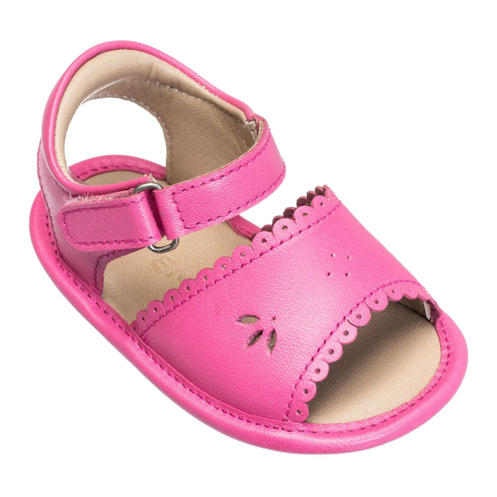 Baby Sandal with Scallop Leather