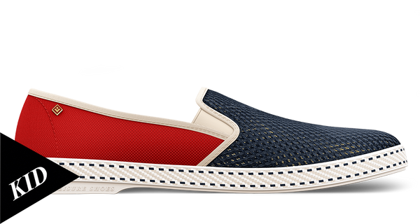 Rivieras Kids Canvas & Mesh Slip On