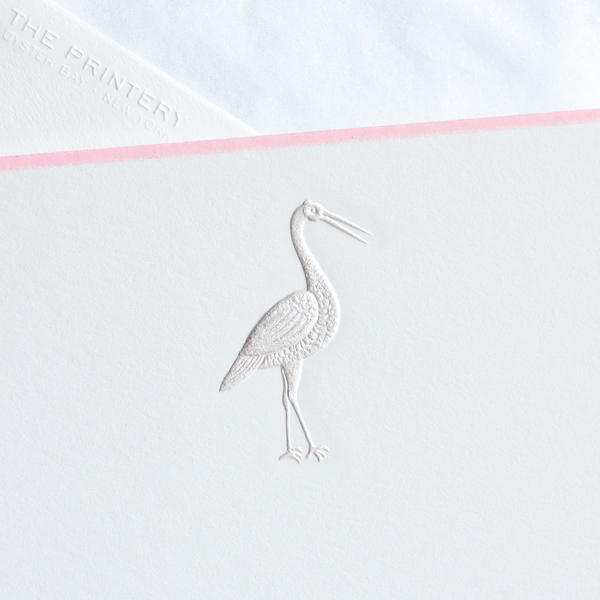Stork Notecards, Pink