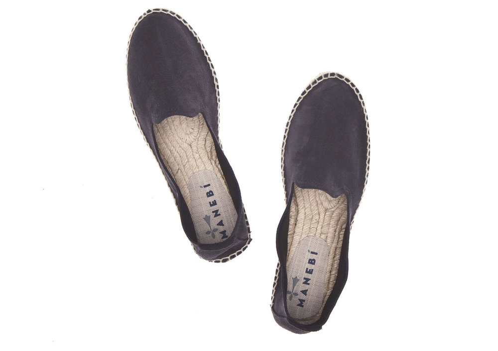 Manebi Slipper, Patriot Blue Suede