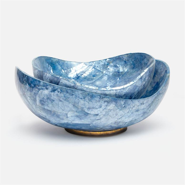 Tarian Blue Hammer Shell Bowl, Large