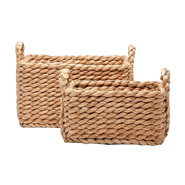 Woven Seagrass Rectangular Basket, Small