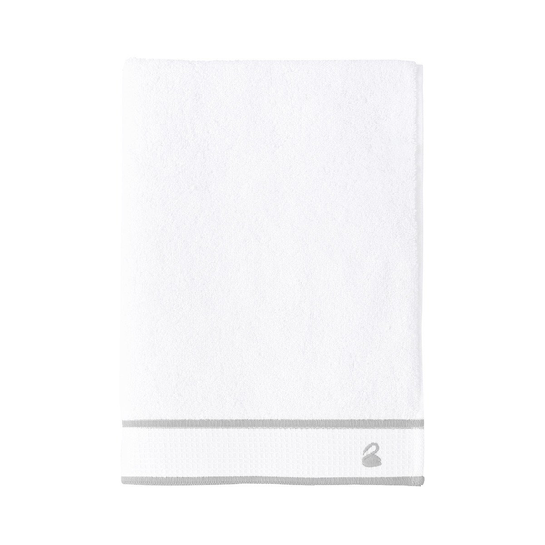 Yves Delorme Flandre Bath Towel Collection, Silver