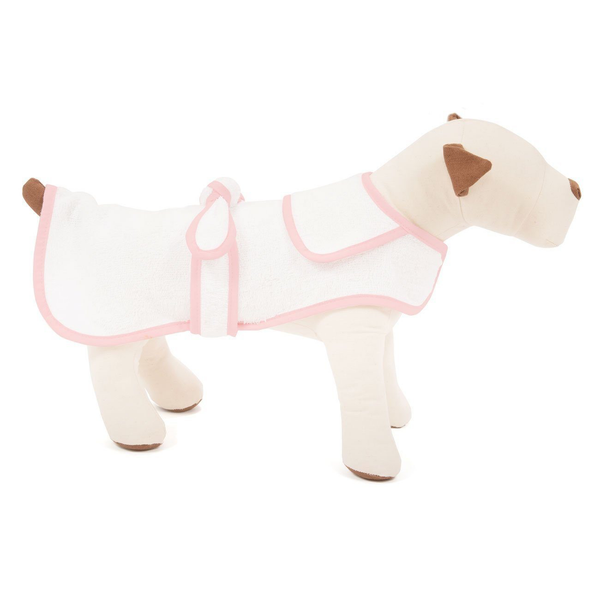 Pink Terry Cloth Dog Robe, X-Small