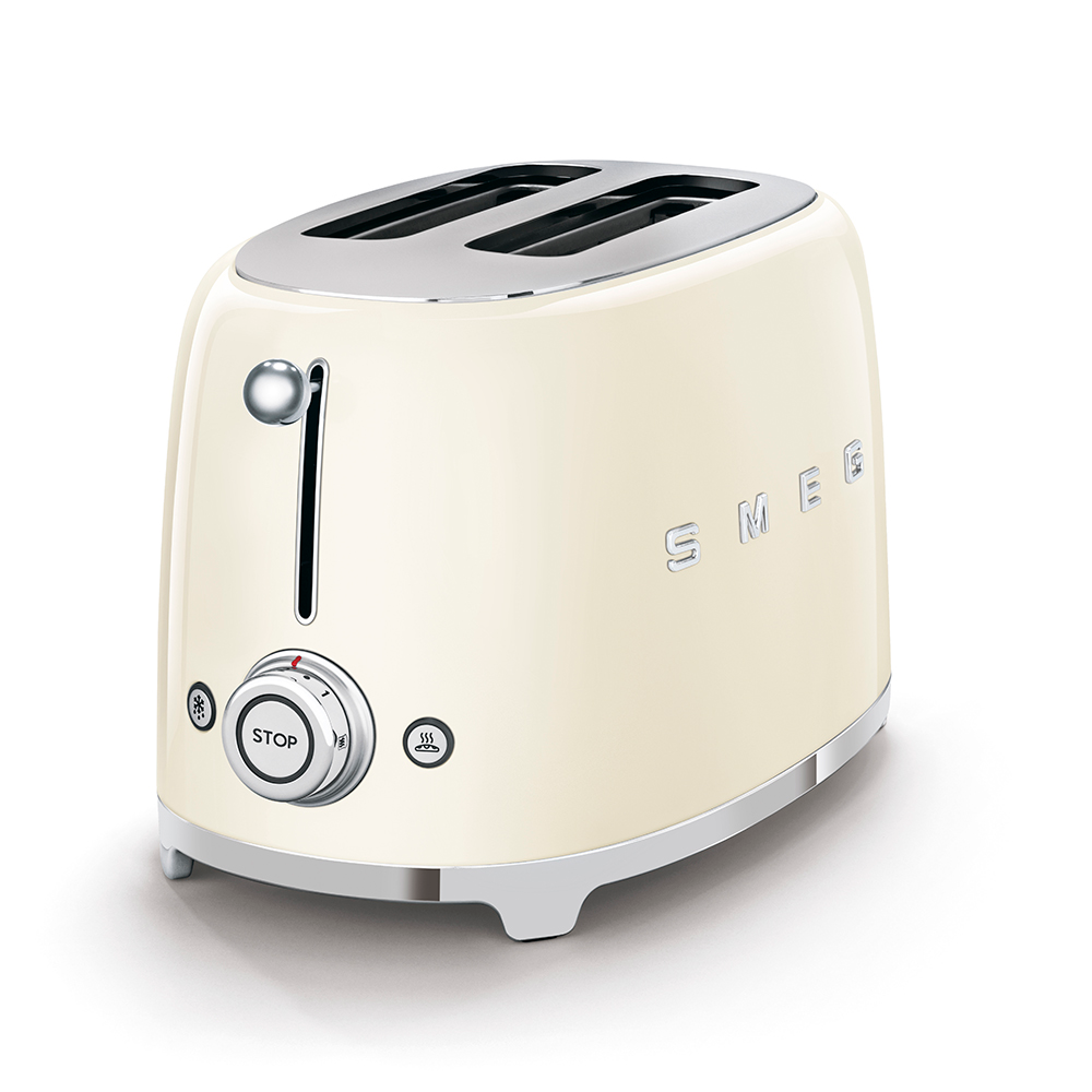 SMEG 2-Slice Toaster, Cream