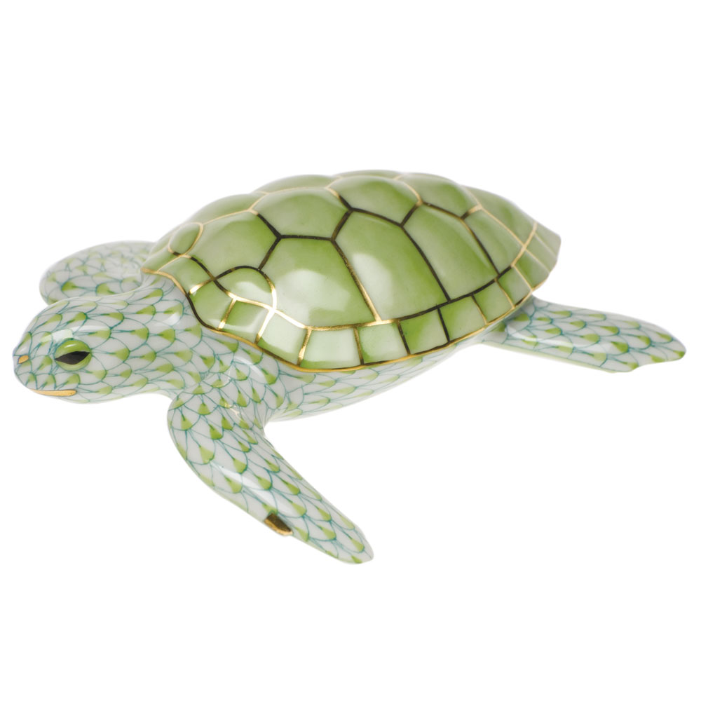 Herend Loggerhead Turtle, Key Lime Green