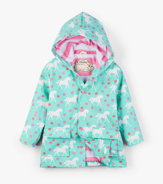 Color Changing Galloping Horses Raincoat