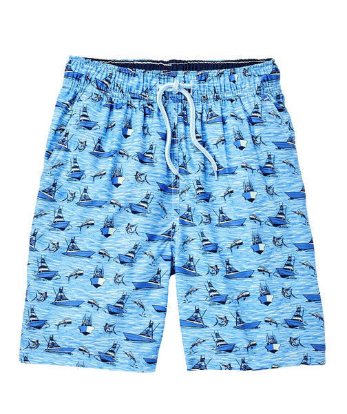 Peter Millar Boys Gulf Stream Swim Trunks