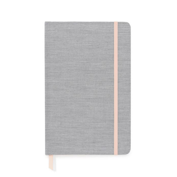 Black Pencil Stripe Journal