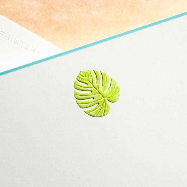 Palm Leaf Notecard
