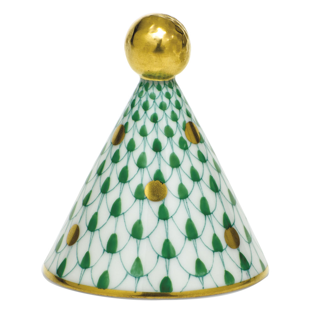 Herend Party Hat, Green