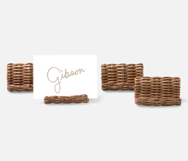 Honey Rattan Placecard Holder