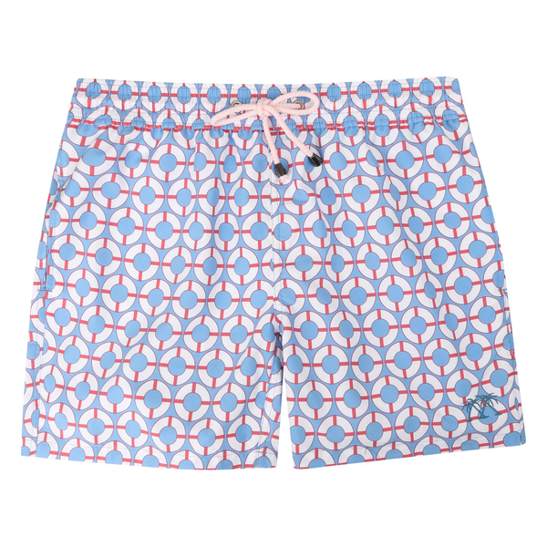 Pink House Mustique Men's Life Ring Swim Trunks