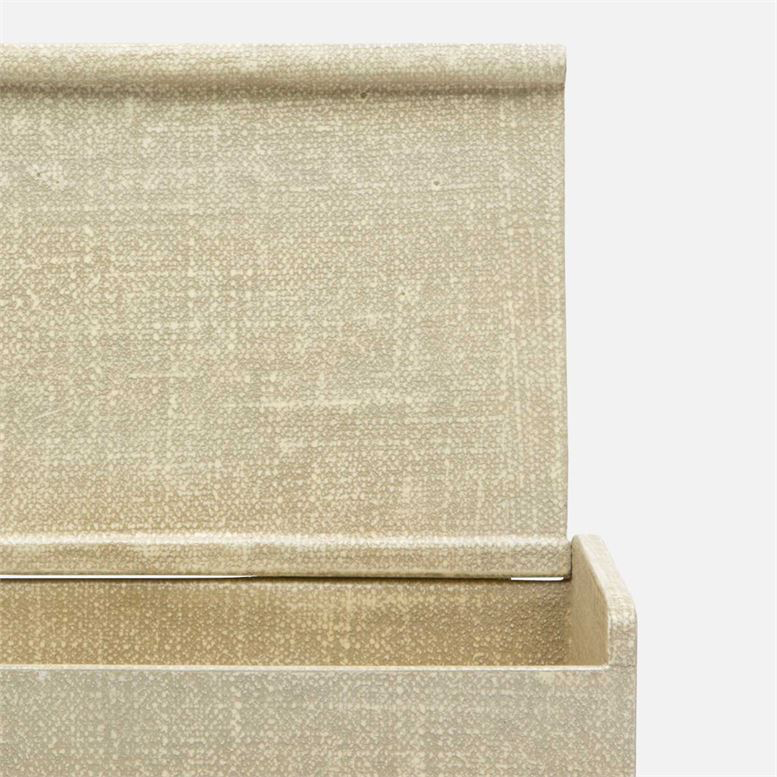 Faux Belgian Linen Box, Soft Sage, Small