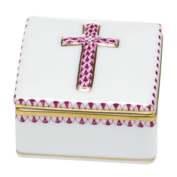 Herend Prayer Box, Raspberry Pink