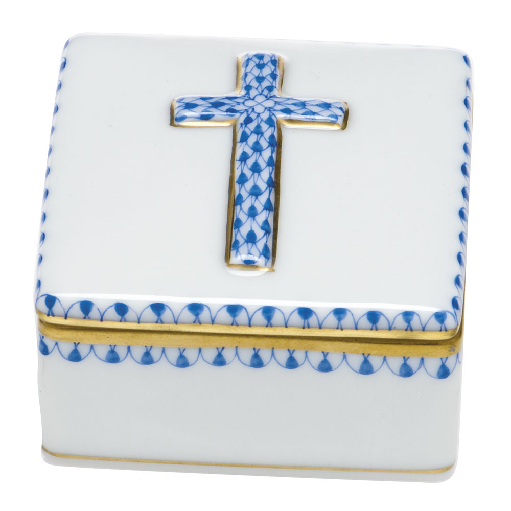 Herend Prayer Box, Blue