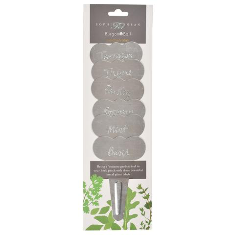 Galvanized Herb Labels-Sophie Conran