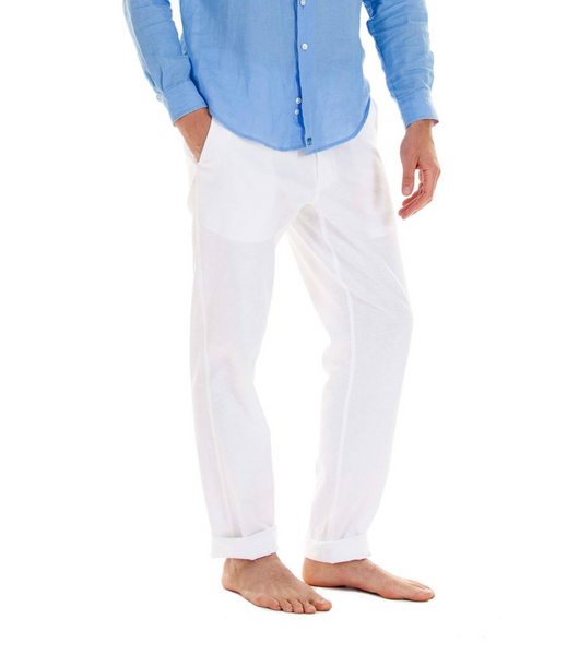 Pink House Mustique Men's Linen Trousers