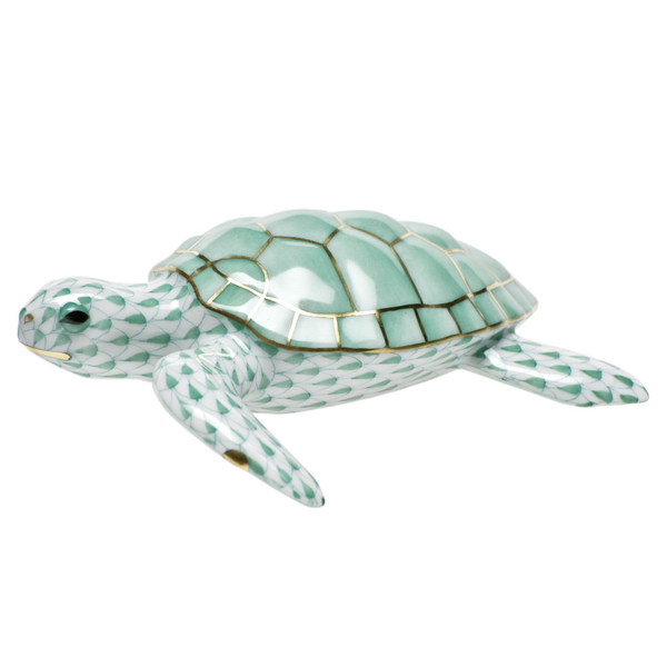 Herend Loggerhead Turtle, Green