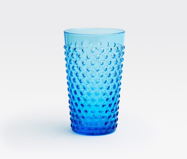 Hand Blown Blue Highball Glass