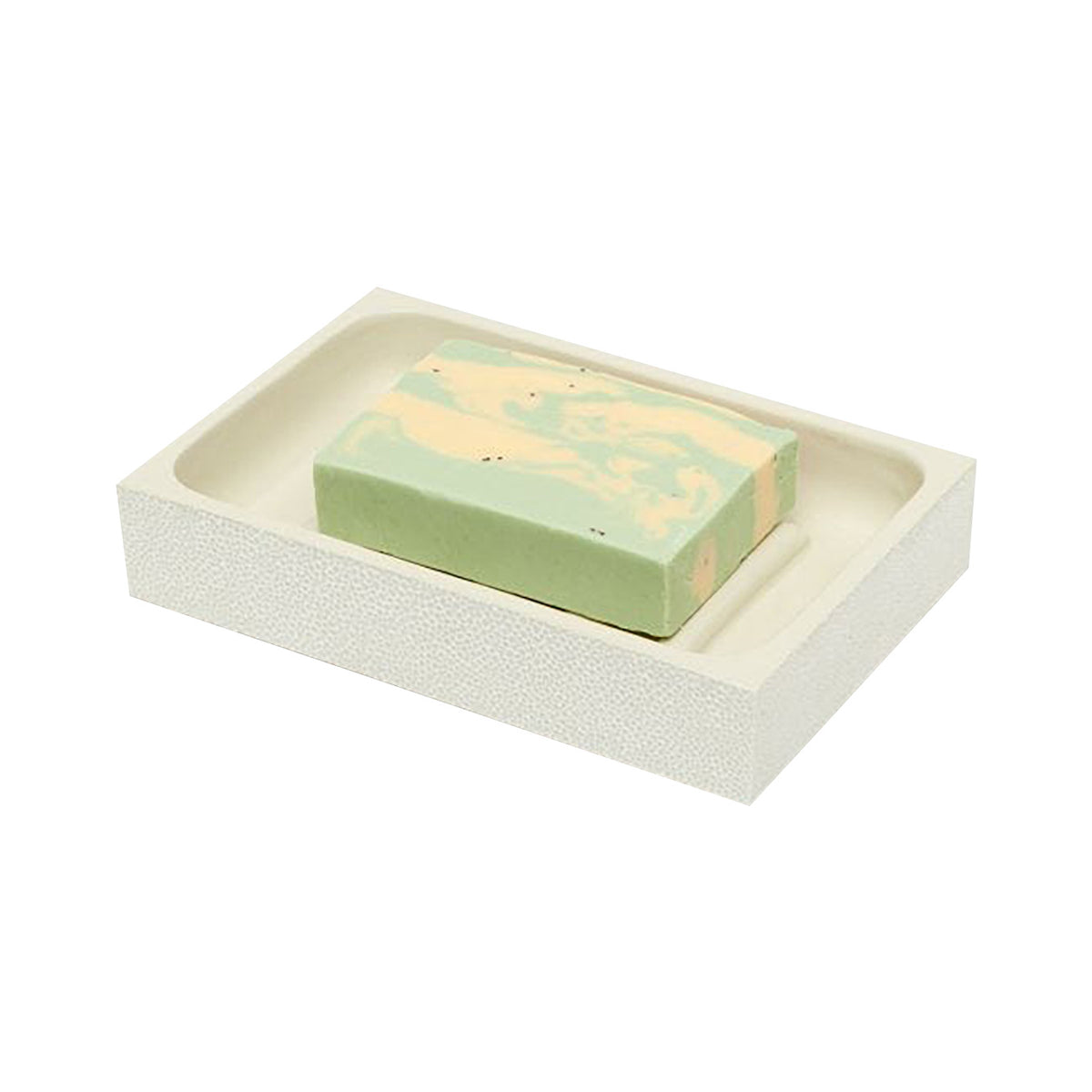 Pigeon & Poodle Manchester Shagreen Soap Dish, Snow