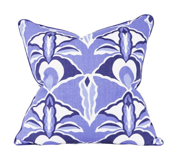 Capri Prussian Blue Pillows