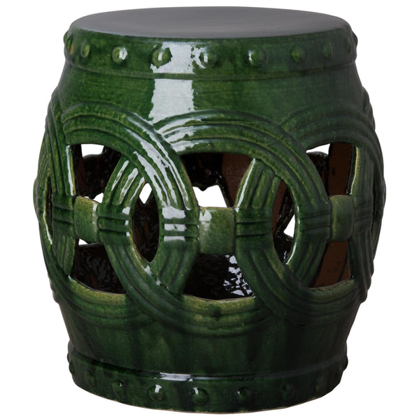 Large Eternity Garden Stool, Green