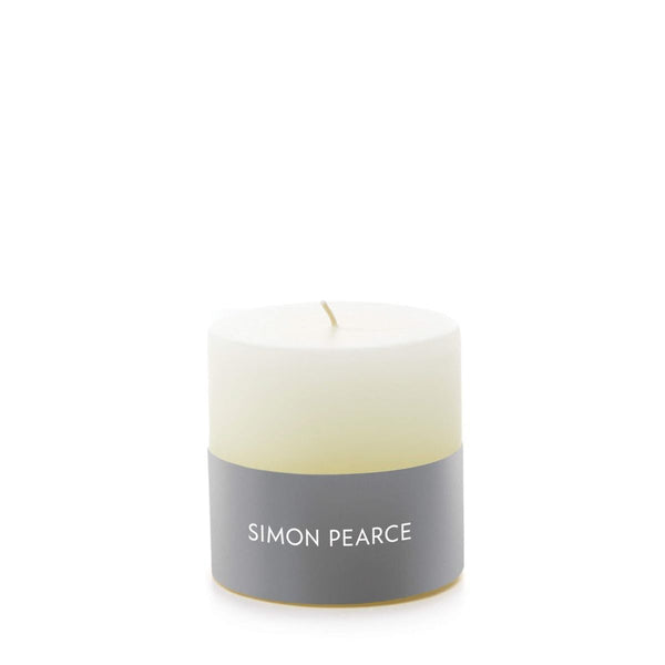 "Simon Pearce Ivory Pillar Candle, 3"" x 3"""