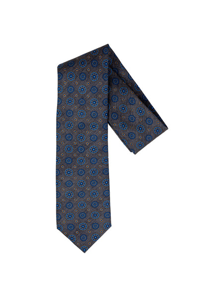 Robert Jensen Kaleidoscope Printed Tie, Grey