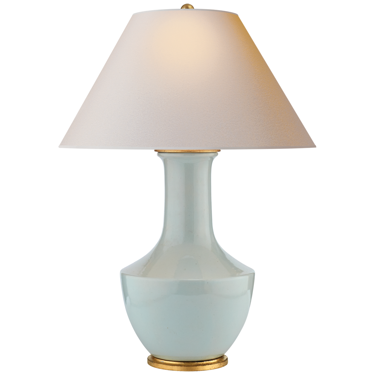 Lambay Table Lamp, Ice Blue Porcelain