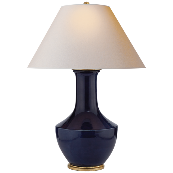 Lambay Table Lamp, Blue Denim