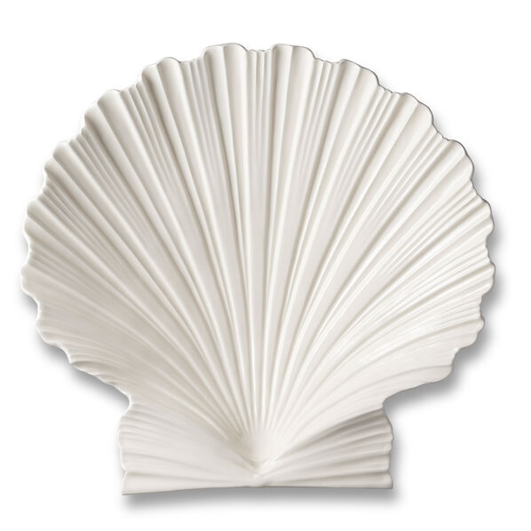 AERIN Shell Platter in Cream Ceramic, Large