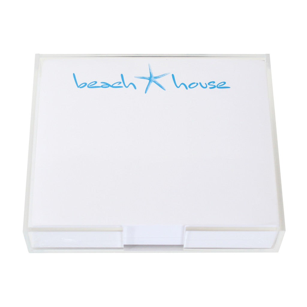 Beach House Large Notepad